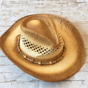 Accessories - Western Style Sun Hat with Heart Detail